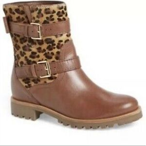 Kate Spade Sonia Cheetah & Leather Buckle Boots